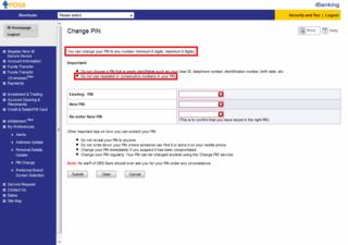 DBS password change 2